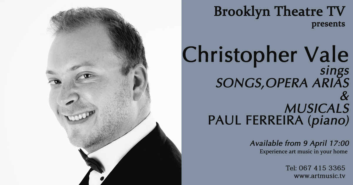 Songs, Opera Arias and Musicals. Christopher Vale Thumbnail